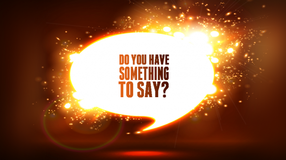 Blog-Sept 23rd, 2014-Do You Have Something to Say