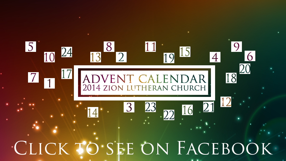 Advent Calendar Front Page Pic