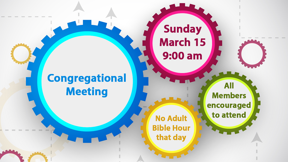 Congregational Meeting - March 2015