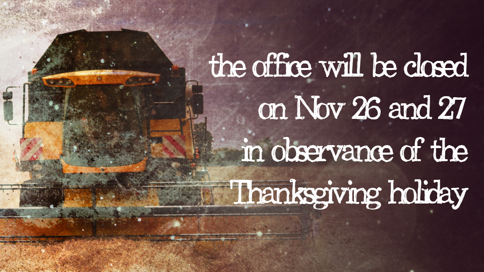 Thanksgiving 2015-Office Closed-Front Page Slider Pic