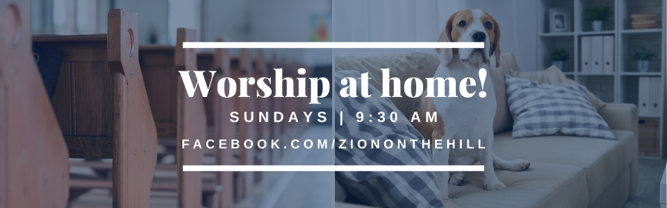 Online Worship Service Page Banner